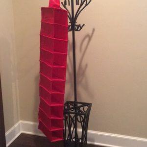 Red Hanging Closet Organizer